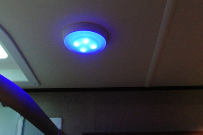 Superieur One Recent Trend We Noticed When Shopping For A New Fifth Wheel Is That  Several Manufacturers Are Starting To Install Blue LED Lighting In The  Bathroom And ...