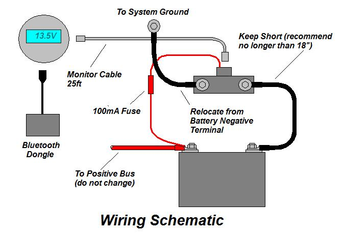 Installing the Victron BMV-700 Battery Monitor in my RV.   Battery Shunt Wiring Diagram      RV-Project