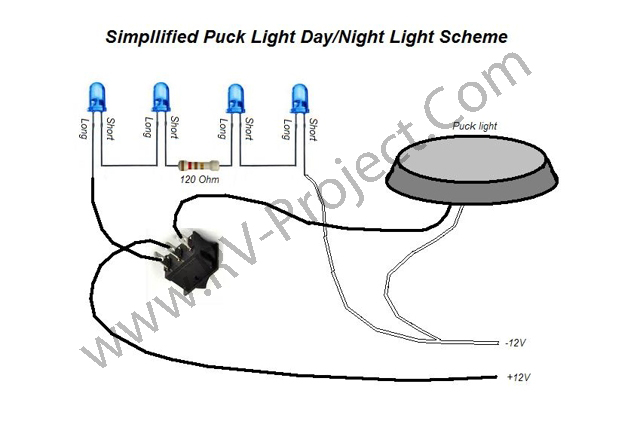Adding Blue Night Lights To The Rv. If You Cannot Find One From My Link Below Look For A Subminature 3 Rocker Switch Spdt Onon With Mounting Hole Of 13mmx8mm To 15mmx9mm. Wiring. Day Night Switch Wiring Diagram 12v At Scoala.co