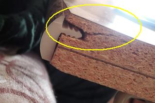 how to fix particle board screw holes